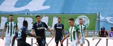 Konya-Trabzon maçında kazanan çıkmadı! 3 gol iptal edildi...