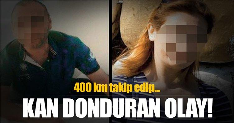 400 km izleyip eski eşinin boğazını kesti