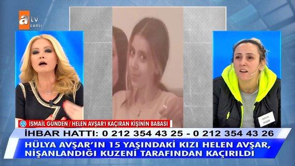 Müge Anlı'da SON DAKİKA: Hülya Avşar'ın 15 yaşındaki kızı Helen Avşar'ı kaçıran kişinin babasına canlı yayında tepki | Video