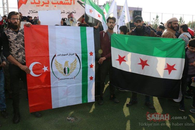 Suriyelilerden sınırda PKK/YPG protestosu