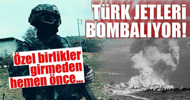 Son Dakika Haberi: Özel birlikler girmeden önce Cinderes'e hava bombardımanı