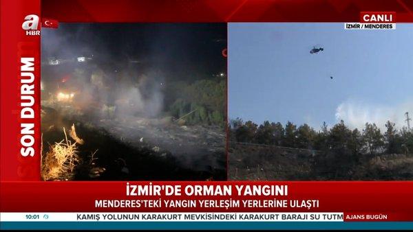 Son Dakika: İzmir'de orman yangını! Tahliye edilen yerleşim yerine sıçradı... Canlı yayınla son durum | Video