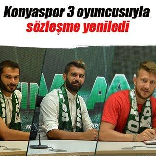 Konyaspor 3 oyuncusuyla sözleşme yeniledi