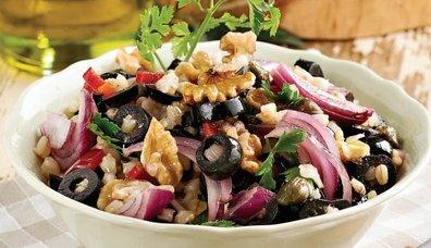Zeytinli Buğday Salatası