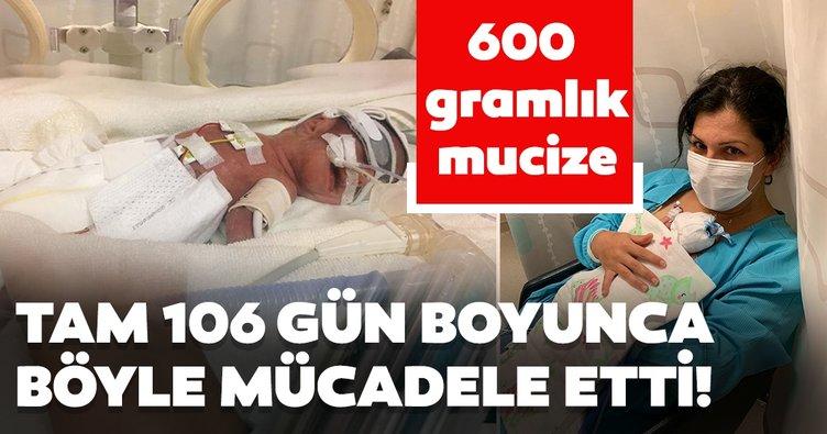 660 gram doğdu! 106 günlük yoğun bakımdaki mücadelesini kazandı