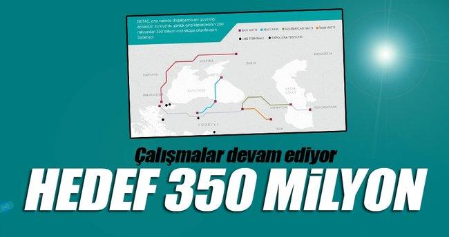 BOTAŞ'ın hedefi 350 milyon