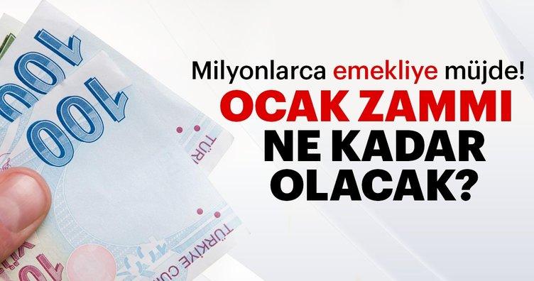 Son dakika haberi: Emeklilere zam müjdesi! 2019 Ocak SSK ve Bağkur emekli zammı ne kadar kaç lira olacak?