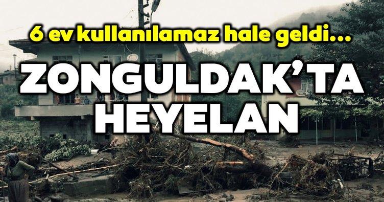 Zonguldak Kozlu' da heyelan; 6 ev kullanılamaz hale geldi