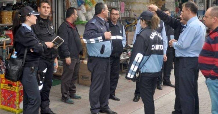Ankara'da kaldırım işgaline zabıta kontrolü