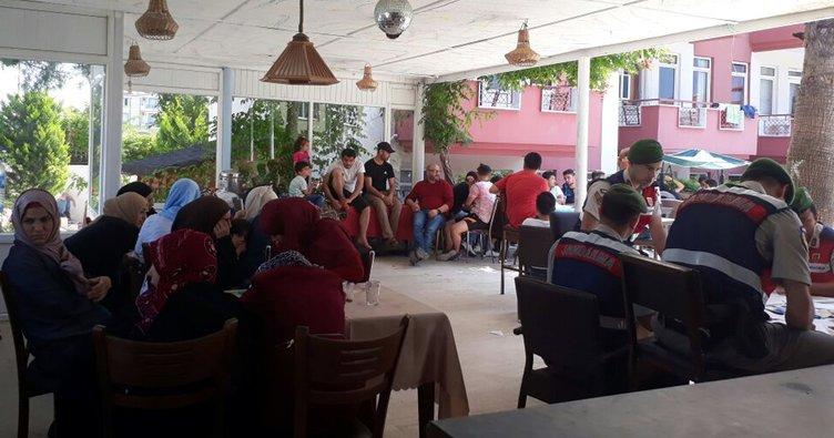 Manavgat'taki bir otelde Suriyeli 62 kaçak yakalandı!