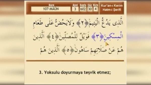 Maun Suresi dinle! Maun Suresi'nin Arapça okunuşu Türkçe anlamı!