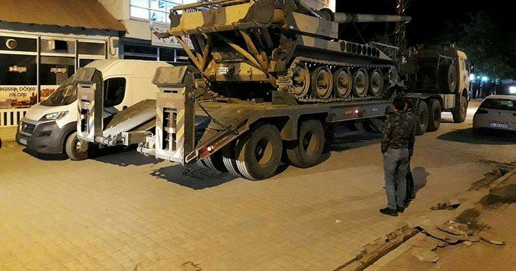 Irak sınır boyuna obüs sevkıyatı