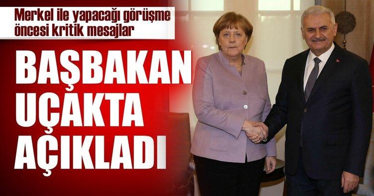Son Dakika Haberi: Başbakan Binali Yıldırım'dan Merkel'e kritik mesajlar