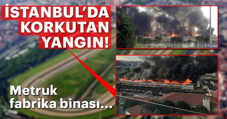 Son dakika: İstanbul Zeytinburnu'nda korkutan yangın!