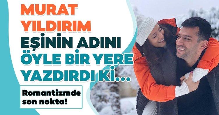 Romantizmde son nokta! Murat Yıldırım eşi Iman Elbani'nin adını öyle bir yere yazdırdı ki...