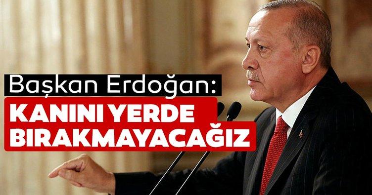 Erdoğan'dan Muhammed'in ailesine: kanını yerde bırakmayacağız