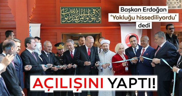 Cumhurbaşkanı Erdoğan, Çanakkale Şehitler Abidesi Camisinin açılışına katıldı