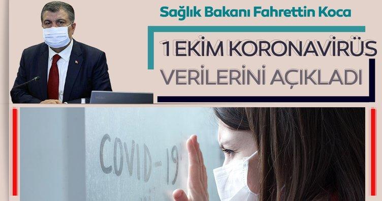 Son dakika haberi: Bakan Fahrettin Koca 1 Ekim koronavirüs hasta ve vefat sayılarını açıkladı! İşte, Türkiye'de corona virüs son durum tablosu