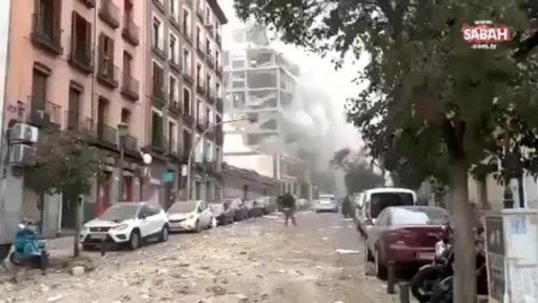 Son dakika! Madrid'de şiddetli patlama! Binalar harabeye döndü!   Video