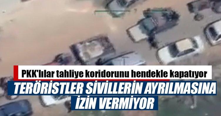 Afrin'de sivillere silahlı tehdit