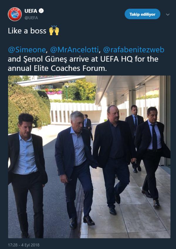 UEFA Şenol Güneş'i tanımadı!