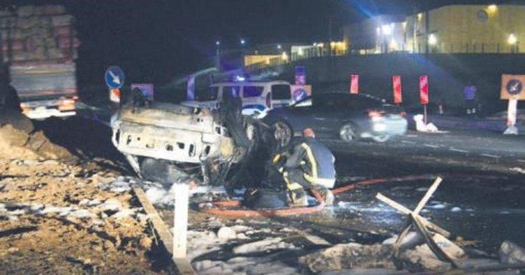 LPG'li araç çarpmayla yandı: 4 ölü