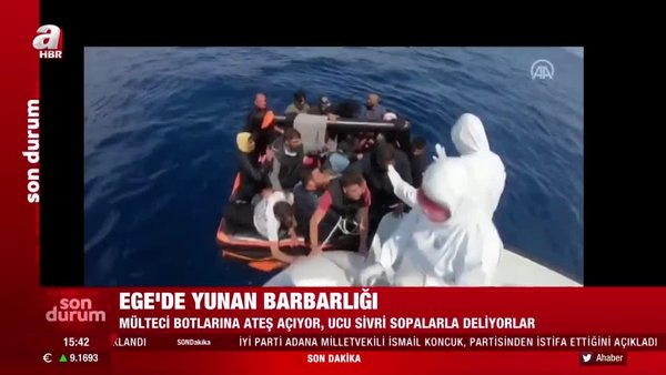 Son dakika! Ege'deki Yunan barbarlığı kamerada! Yunan Ordusu'ndan savunmasız sivillere vahşet | Video