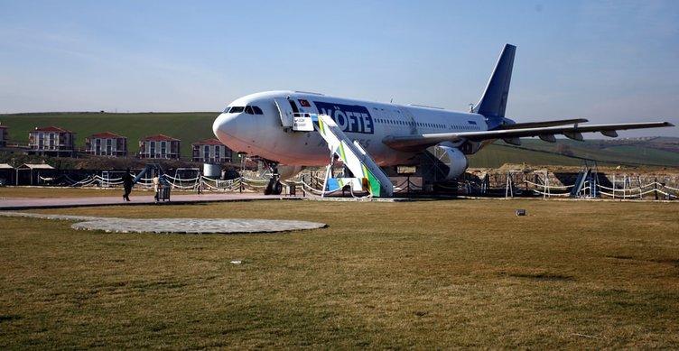 Emektar kargo uçağı restorana dönüştü!