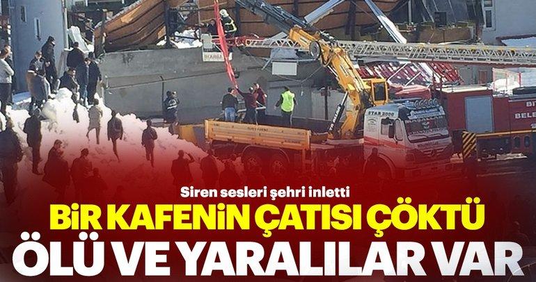 Bitlis'ten kötü haber! Bir kafenin çatısı çöktü