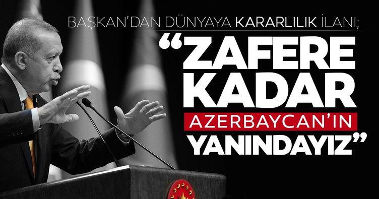 Son dakika... Başkan Erdoğan merakla beklenen açıklamayı yaptı; Zafere kadar Azerbaycan'ın yanındayız