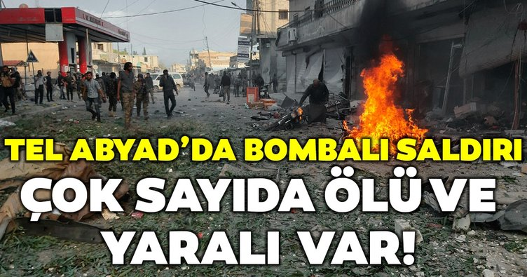 Son Dakika... Tel Abyad pazar yerinde bombalı saldırı meydana geldi