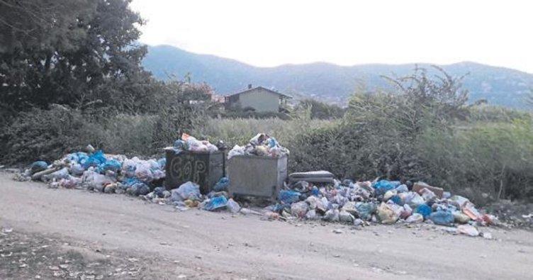 Erdek'te çöp dağları