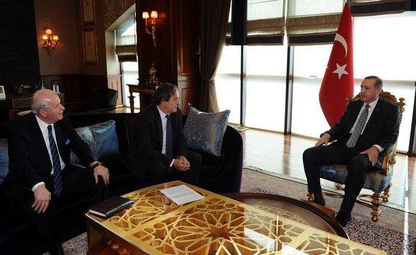 Erdoğan - Platini görüşmesi