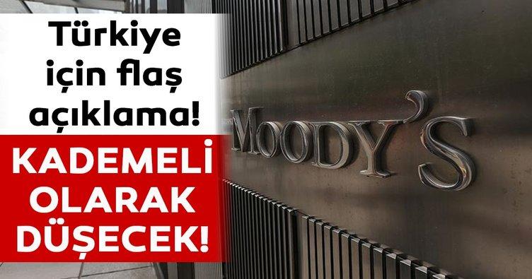Moody's'ten flaş Türkiye açıklaması! 'Kademeli olarak düşmesini bekliyoruz'