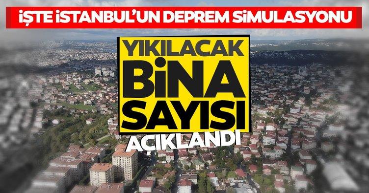SON DAKİKA! İstanbul depreminde yıkılacak bina sayısı açıklandı; İşte İstanbul'un deprem simülasyonu