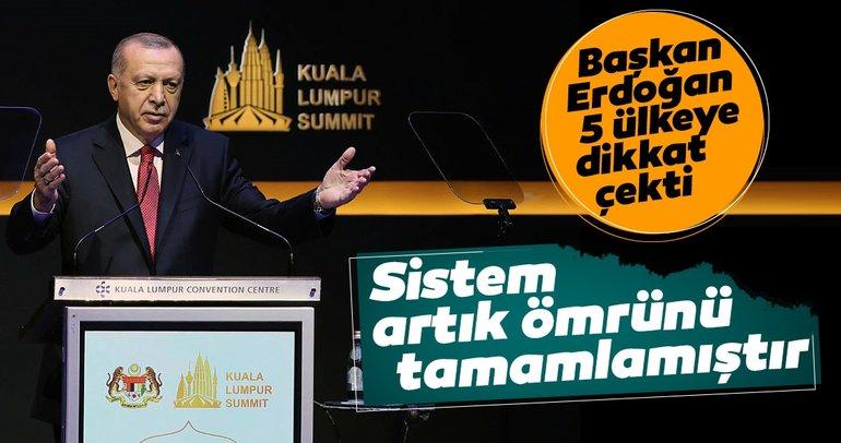 Başkan Erdoğan'dan Malezya'da önemli mesajlar