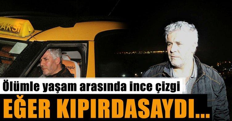 Son dakika: Kocaeli'nde inşaat temeline düşmek üzere olan taksiyi itfaiye kurtardı