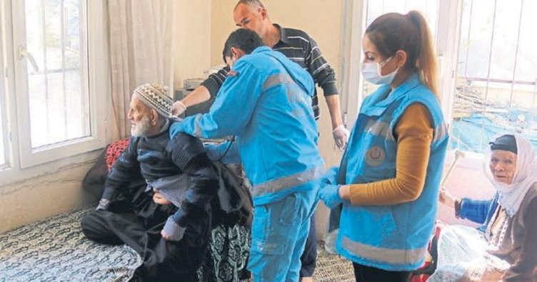 Gazi ve yaşlıların evleri dezenfekte edildi