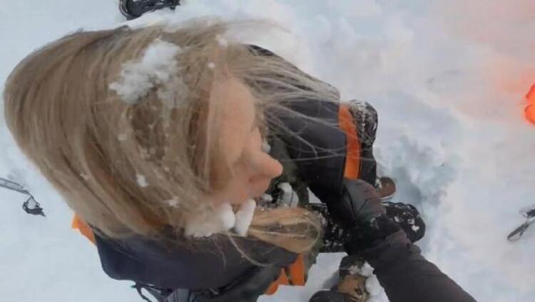 İsviçre'de çığ faciası yaşandı! Çığ altında kalan kadın kayakçıları böyle kurtardılar!
