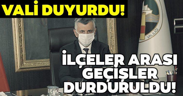 Zonguldak'ta koronavirüs tedbirleri kapsamında ilçeler arası geçişler sınırlandırıldı