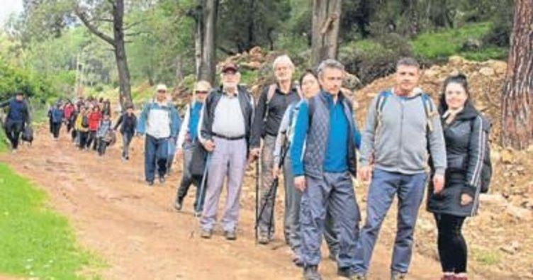 Kepezliler Likya Yolu'nda yürüdü