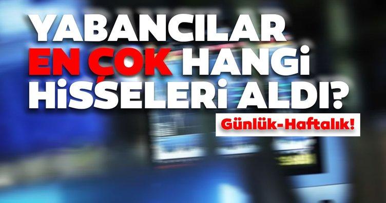 Borsa İstanbul'da günlük-haftalık yabancı payları 17/09/2020