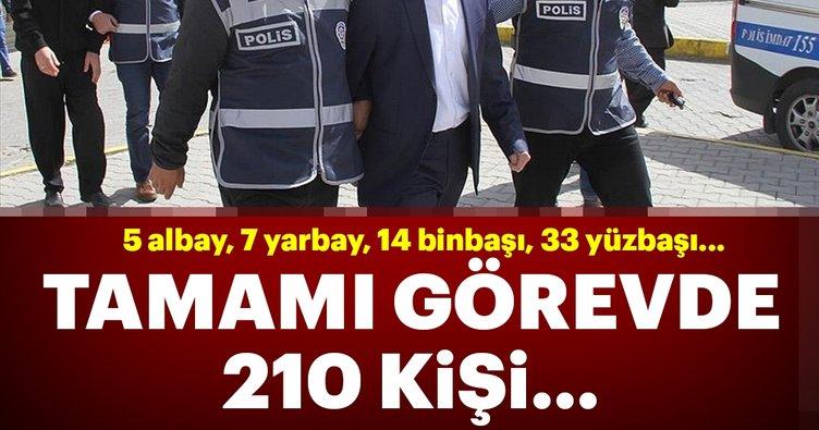 Son dakika: İstanbul'da dev operasyon! Tamamı görevde 210 asker hakkında gözaltı kararı