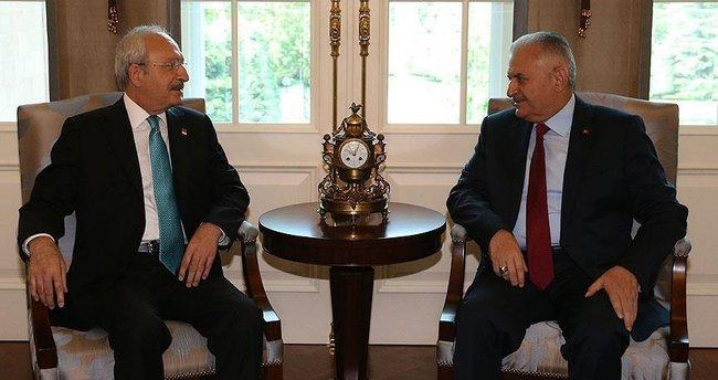 Yıldırım-Kılıçdaroğlu görüşmesi başladı