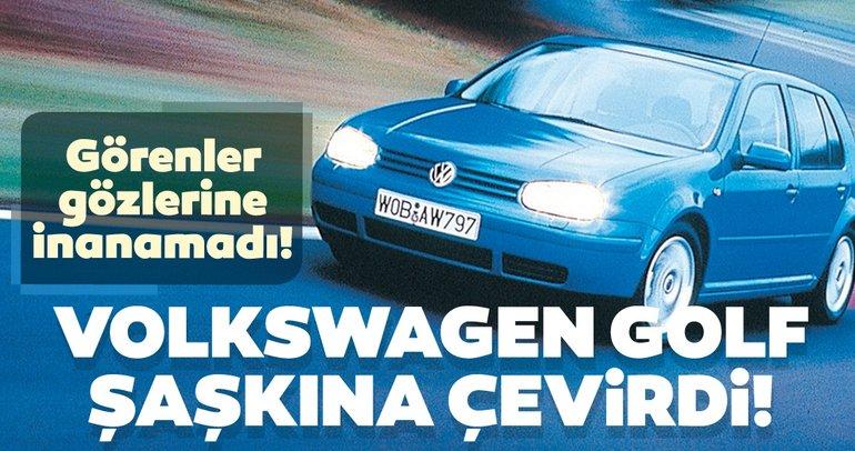 Volkswagen Golf şaşkına çevirdi! Görenler gözlerine inanamadı!