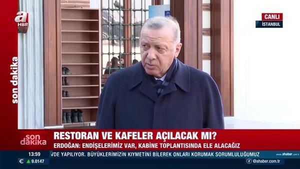 Son Dakika: Recep Tayyip Erdoğan'dan canlı yayında açıklama: Restoran ve kafeler ne zaman açılacak | Video