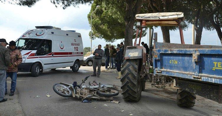 Saruhanlı'da trafik kazası: 1 yaralı