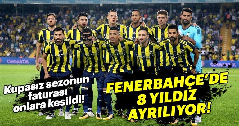Fenerbahçe'de yaprak dökümü! 8 futbolcu ayrılıyor...