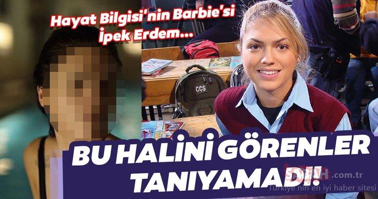 Hayat Bilgisi dizisinin Barbie'si İpek Erdem bu kez bildiğiniz gibi değil! İpek Erdem'in bu halini görenler çok şaşırıyor!