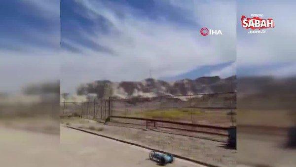 İran'daki depremde ürküten görüntü | Video